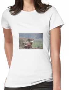 Cows Womens Fitted T-Shirt