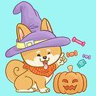 «Shiba Mocca Bruja De Halloween» de Khotekmei