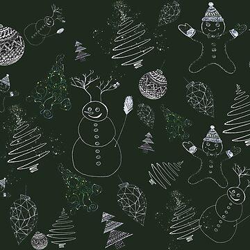 christmassy (green) by monicamarcov