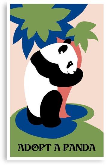Fun retro adopt a panda by aapshop