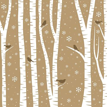 Birch Forest - Winter Idyll by ValentinaHramov