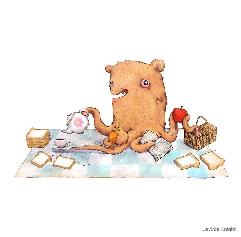 Octopus bear picnic  by Lavinia Knight