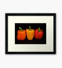 Three Bell Peppers Framed Print