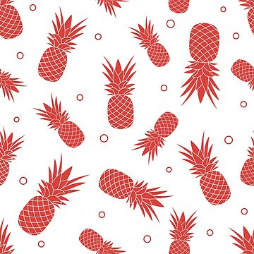 Seamless pattern with pineapples. Tropical fruit. by aquamarine-p