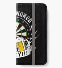 One hundred and eighty dart beer gift iPhone Wallet/Case/Skin