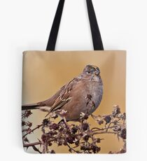 Golden Crowned Sparrow Tote Bag