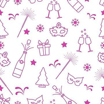 Seamless pattern with new year symbols. by aquamarine-p