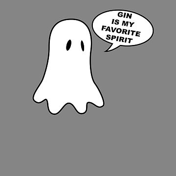 Gin is My Favorite Spirit Funny Halloween Costume for G&T Lovers T-Shirt & Spooky Outfits by lukeyr1
