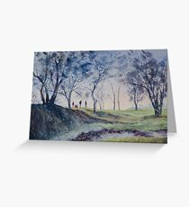 Spring, Watercolour painting of Hansbakkfjære, Trondheim, Norway Greeting Card
