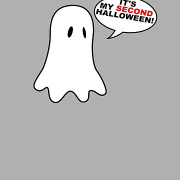 It's My SECOND Halloween Cute Baby Ghost Babies 2nd Halloween Costume Outfit T-Shirt by lukeyr1