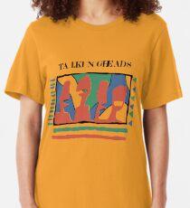 Talking Heads Funny Art Work Graphic Design Yellow Tshirt Slim Fit T-Shirt