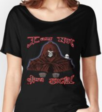 GRIM REAPER AND SIDE KICK/ I AM NOT ANTI-SOCIAL Women's Relaxed Fit T-Shirt