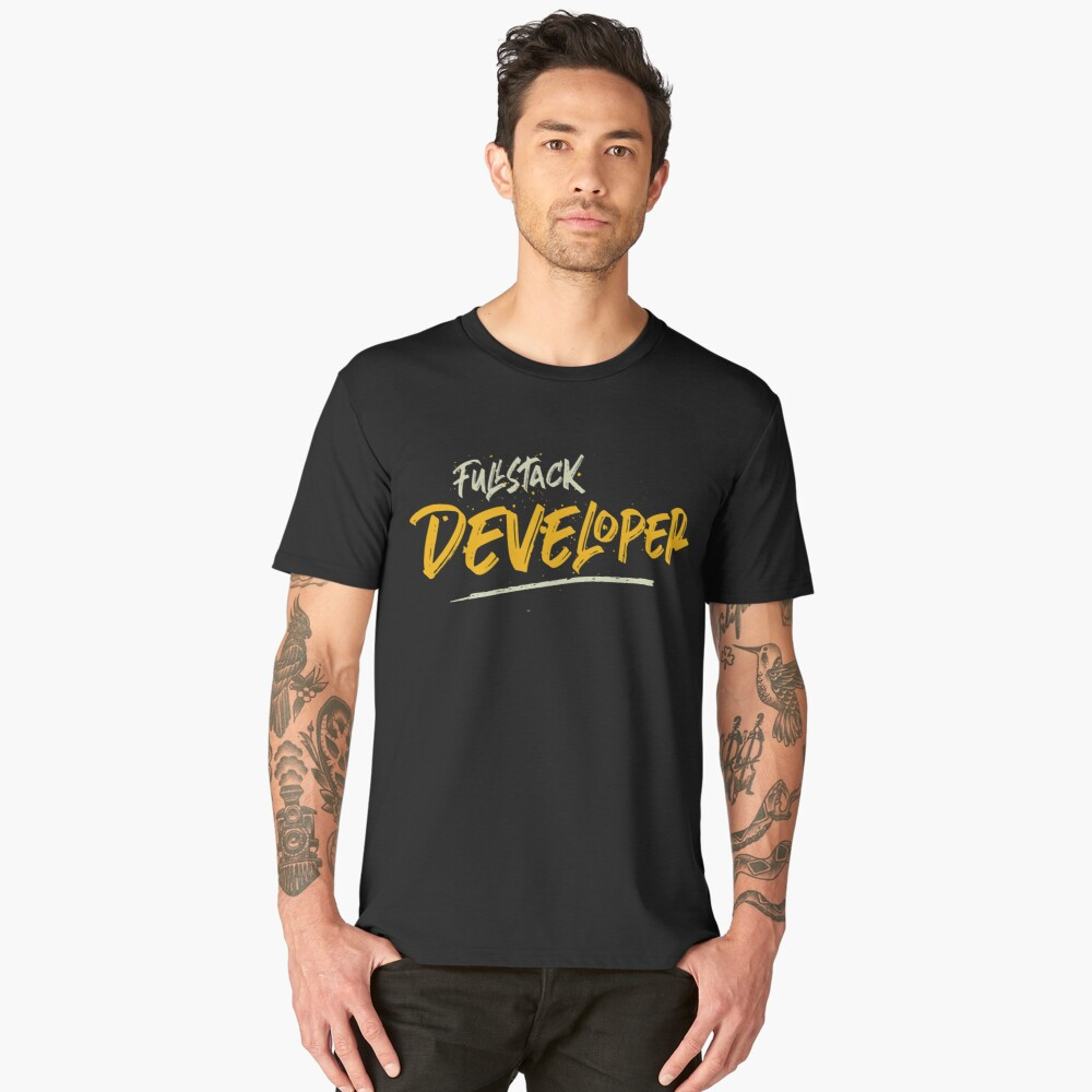 Fullstack developer Men's Premium T-Shirt Front