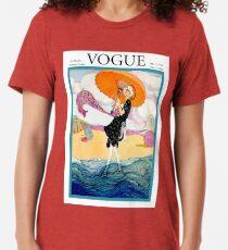 VOGUE : Vintage 1919 Magazine Advertising Print Tri-blend T-Shirt