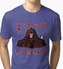 GRIM REAPER AND SIDE KICK/ I AM EASY GOING Tri-blend T-Shirt