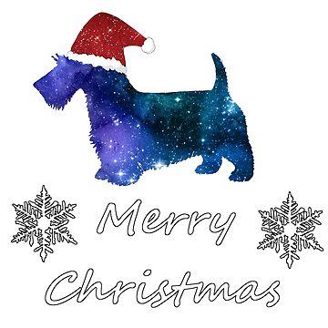 Scottish Terrier - Santa Scottie - Christmas Dog by GwendolynFrost