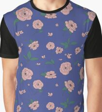 Sublimated Flowers_Blue Graphic T-Shirt