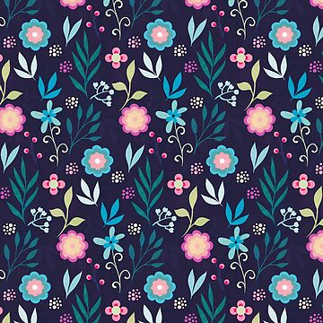 Colorful Flowers Pattern by stylebytara