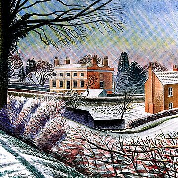 Vicarage in Winter, fine art painting by virginia50