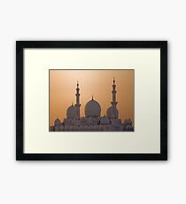 The White Domes Framed Print