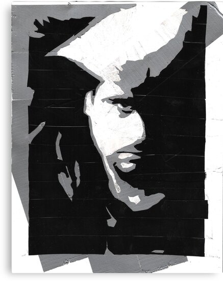 Duct and Electric Tape Portrait by deadbilly