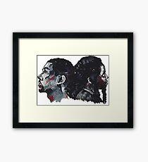 Double Bak Framed Print