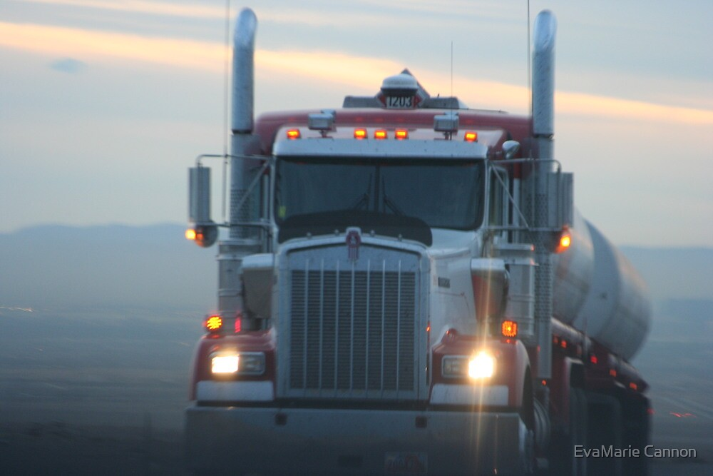 Kenworth at dusk by EvaMarie Cannon