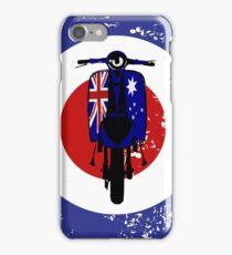 Retro Scooter with Aussie flag decals iPhone Case/Skin