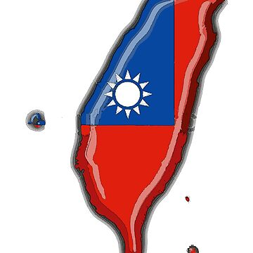Taiwan Map With Taiwanese Flag by Havocgirl
