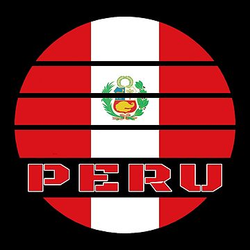 Peru Circle / National Flag Gift South America by Rocky2018
