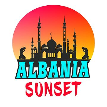 Albania sunset gift mosque by Rocky2018