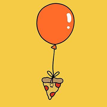 Orange Balloon Pizza Slice by SaradaBoru