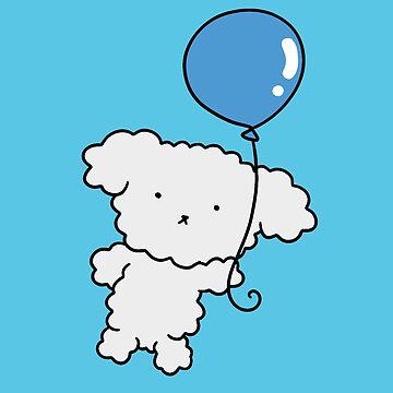 Blue Balloon Bichon by SaradaBoru