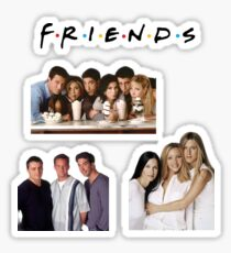 friends - 4 pack of stickers Sticker