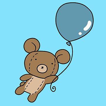 Blue Balloon Teddy Bear by SaradaBoru
