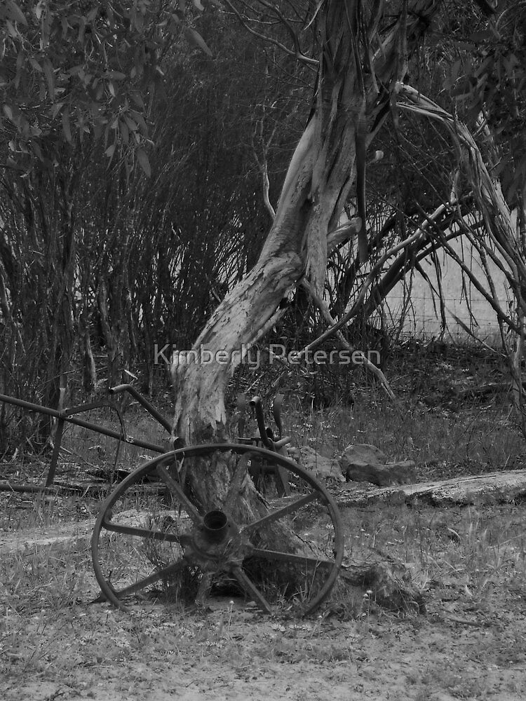 Old Wheel by Kimberly Petersen