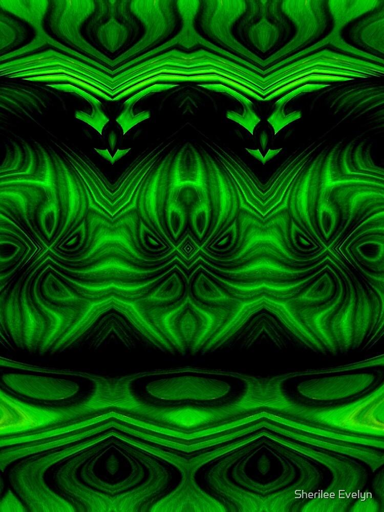 Green & Black Patterns. by Sherilee Evelyn