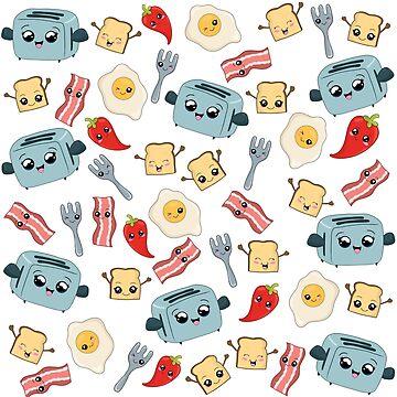Kawaii Breakfast Pattern by ValentinaHramov