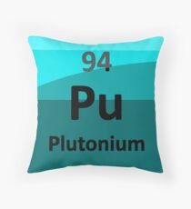 Plutonium: the Nuclear Element Throw Pillow