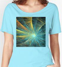 Aqua Orange Spiral Women's Relaxed Fit T-Shirt