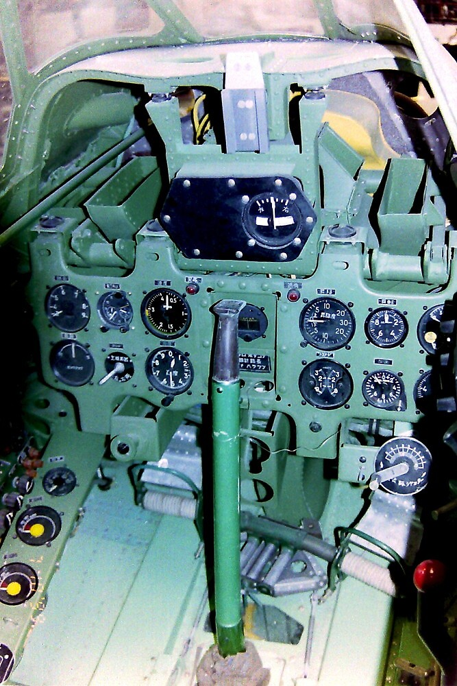 Quot Cockpit Of A Mitsubishi Zero Quot By Mike Edwards Redbubble