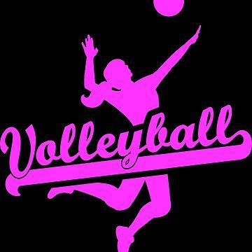 Volleyball Ladies Pink by RetroFuchs
