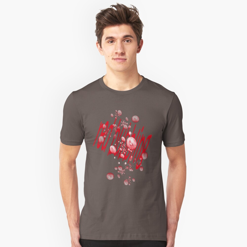 red bubbling Unisex T-Shirt Front