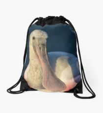Spoonbill Portrait Drawstring Bag