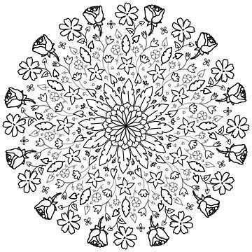 FLORAL MANDALA by sianbrierley