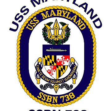 USS Maryland (SSBN-738) Crest by Spacestuffplus