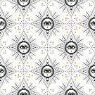 All Seeing Eye Geometric Mandala Pattern by Patterns Galore