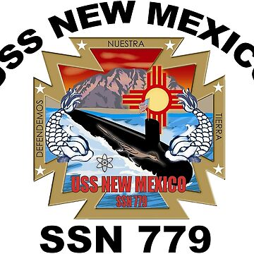 SSN-779 USS New Mexico Logo by Spacestuffplus