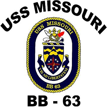 USS Missouri (BB-63) Crest by Spacestuffplus