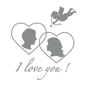 Greeting card with cupid archery, couple in love. by aquamarine-p